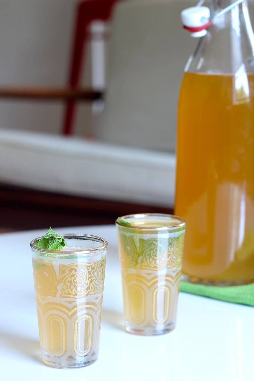 Iced Ginger Mint Tea - Prepgreen