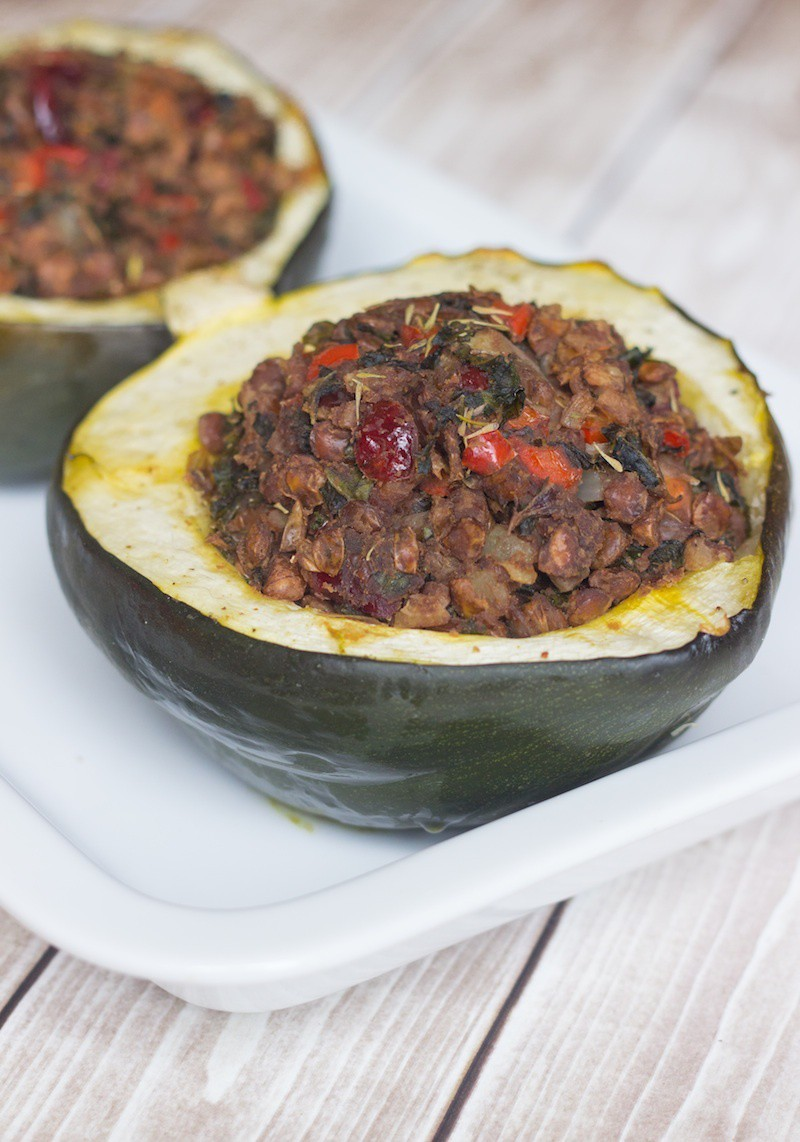 Stuffed Acorn Squash with Lentils