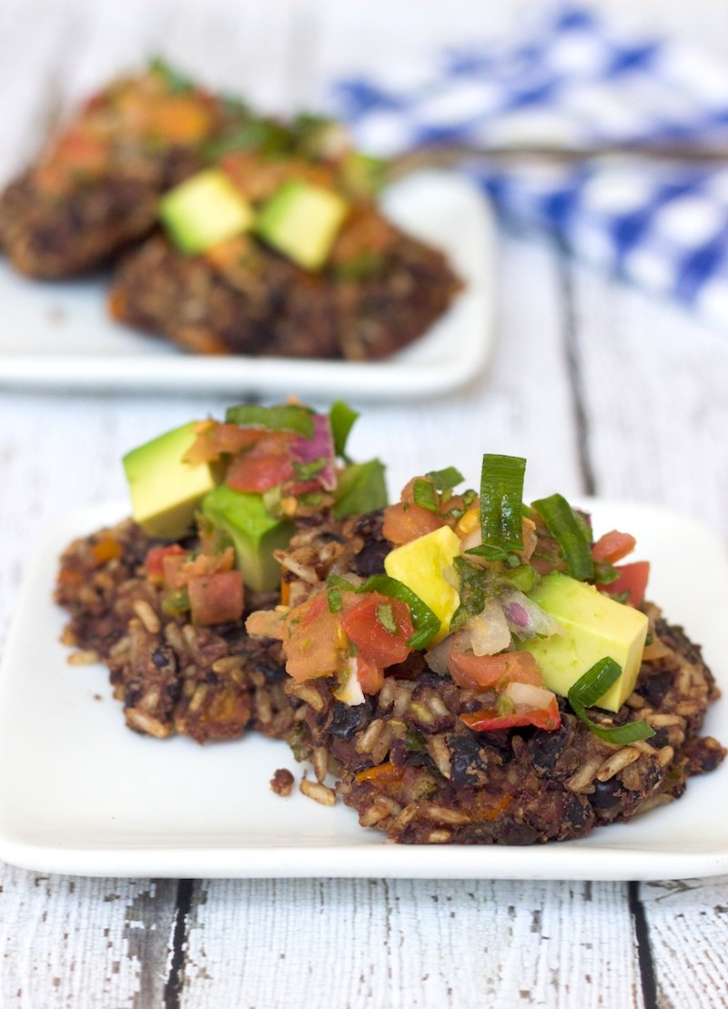 brown rice black bean patties