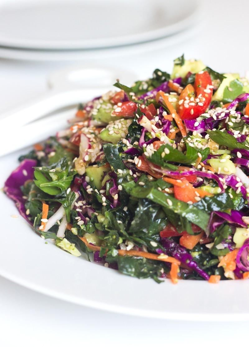 Detox Salad with Lemon Dressing