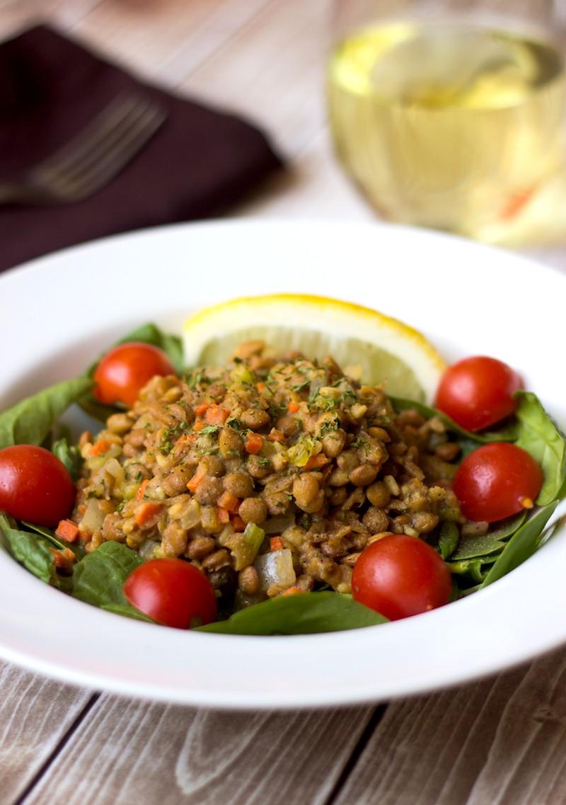weeknight lentil salad