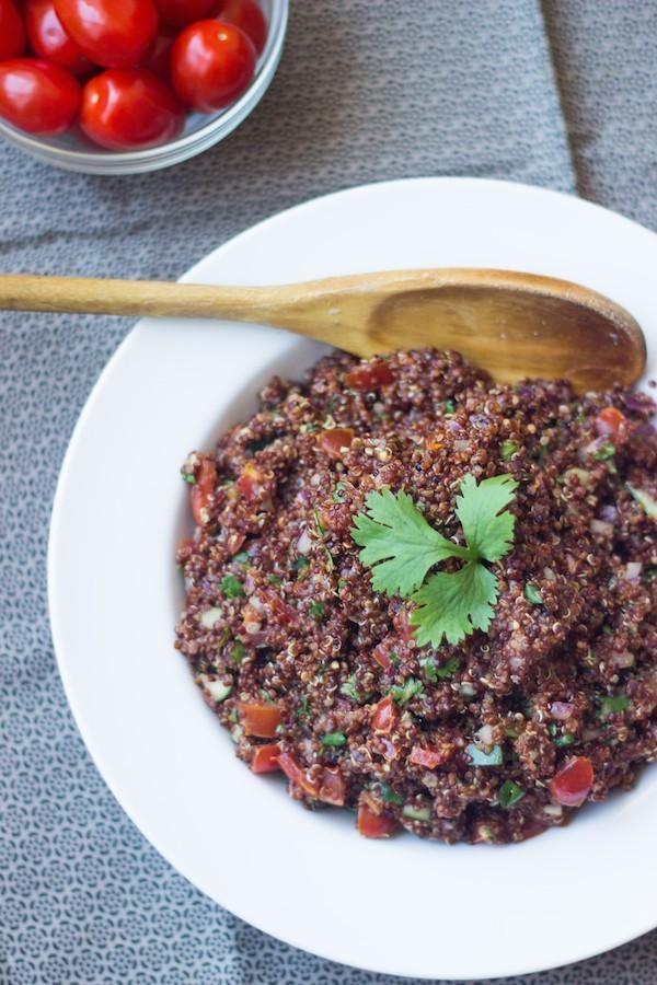 red quinoa salsa fresca 1