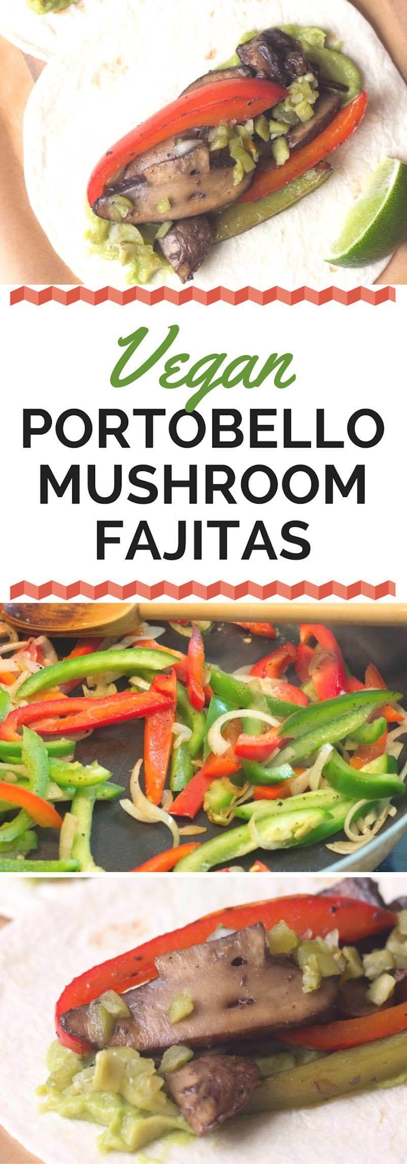 portobello mushroom fajitas