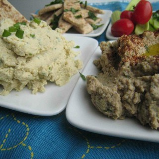 Scallion Hummus & Earthy Baba Ganoush – Party Platter Essentials