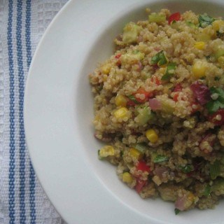 Colorful Quinoa Salad with an Array of Vegetables