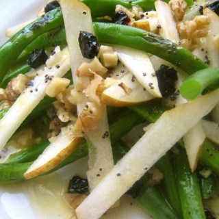 Pear & Green Bean Salad with Lemon Poppyseed Dressing