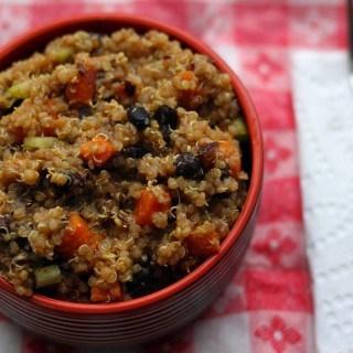 Black Bean Quinoa Salad with Chipotles