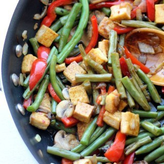 Sweet & Sour Green Bean Tofu Stir Fry