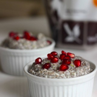 Coconut Chia Pudding with Pomegranate Seeds