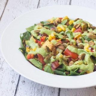 Southwest Salad w/ Avocado Dressing