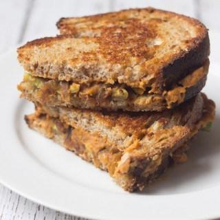 Grilled Chipotle Hummus Sandwich