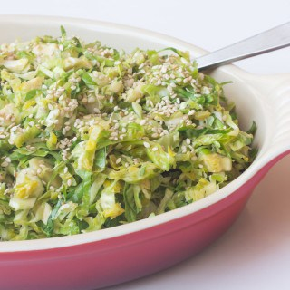 Easy Brussels Sprouts Slaw