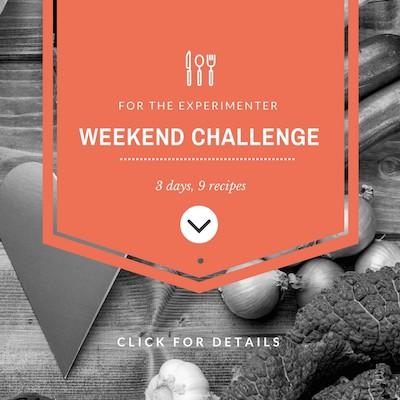 weekend vegan challenge