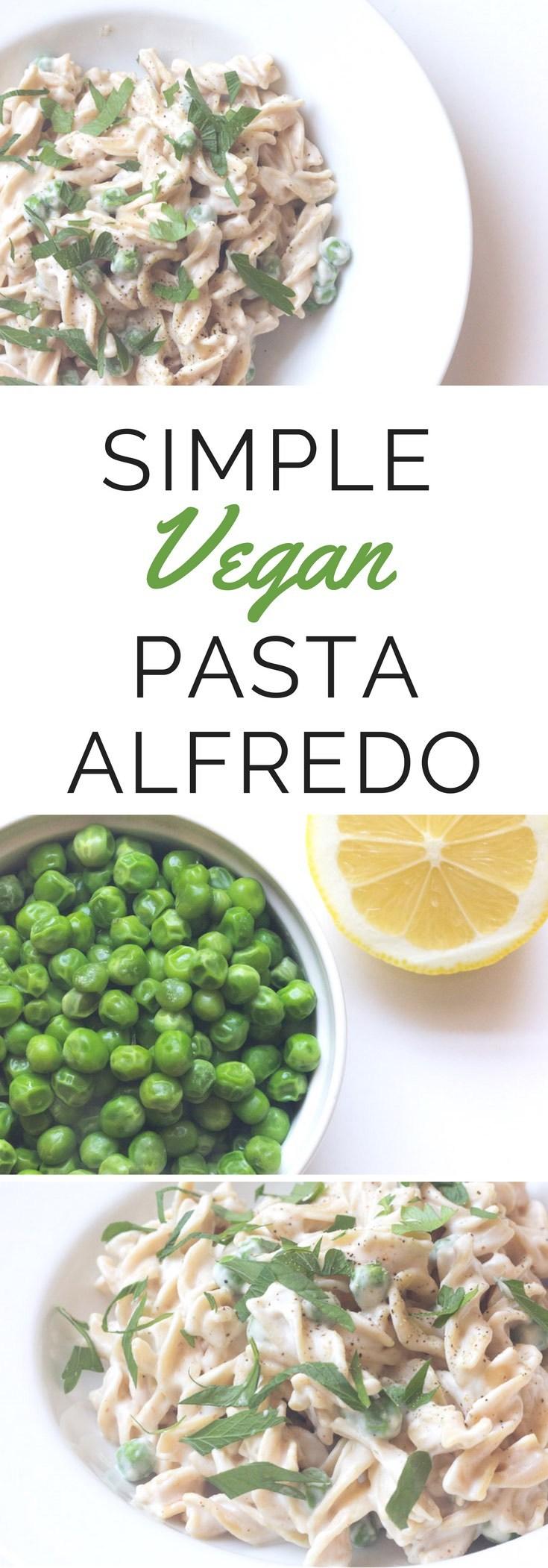 Simple Vegan Pasta Alfredo